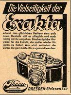 Original-Werbung/ Anzeige 1942 - IHAGEE EXAKTA KAMERA - Ca. 45 X 60 Mm - Publicités
