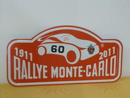 """Plaque De Rallye """"MONTE CARLO"""" 2011 Rally Plate N° 60 - Rallye (Rally) Plates"""