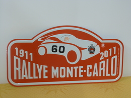 "Plaque De Rallye ""MONTE CARLO"" 2011 Rally Plate N° 60 - Plaques De Rallye"