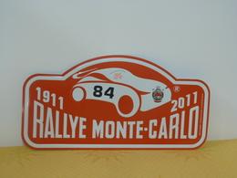 "Plaque De Rallye ""MONTE CARLO"" 2011 Rally Plate N° 84 - Plaques De Rallye"