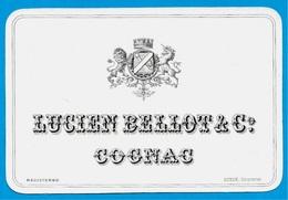 Rare Etiquette Ancienne COGNAC LUCIEN BELLOT & Co * 16 Charente ** Heraldisme Blason Armoiries Lion Licorne - Labels