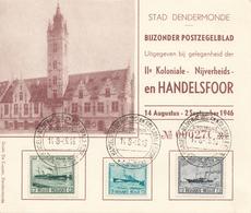 STAD DENDERMONDE / N° 725-726-727 COMMEMORATION DU CENTENAIRE DE LA MALLE OSTENDE-DOUVRE - Belgium