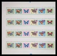 North Korea 2012 Mih. 5851/54 Fauna. Butterflies (M/S Of 4 Booklet Sheets) MNH ** - Korea, North