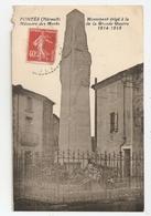 34 Fontès. Monument Aux Morts. Carte Inédite (2368) - France