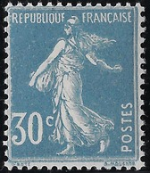France Semeuse Camée N°192 IIC**, 30c Bleu Très Frais Signé Calves - 1906-38 Semeuse Camée