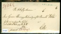 HANDGESCHREVEN BRIEF Uit 1855 Gelopen Van OBERMARSCHACHT Via ARTLENBURG Naar CELLE  (11.095) - Hanover