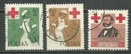 POLAND Oblitéré 985-987 Croix Rouge Infirmière Henri Dunant Médecine Santé - Oblitérés