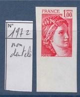 = Sabine De Gandon Neuf N°1972 Non Dentelé 1f00 Rouge - 1977-81 Sabine Of Gandon