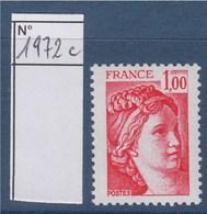 = Sabine De Gandon Neuf N°1972c Gomme Tropicale 1f00 - 1977-81 Sabine De Gandon