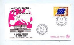 Lettre Cachet Strasbourg Conseil Europe Prix Aubenas - Storia Postale