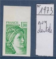 = Sabine De Gandon Neuf N°1973 Non Dentelé 1f00 Vert - 1977-81 Sabine (Gandon)