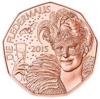 Monnaie 5 Euro Autriche 2015, Die Fledermaus, Neuve Du Rouleau, UNC - Autriche
