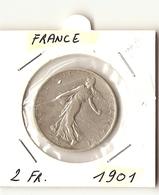 2 FRANC 1901 ( 3° République ) - I. 2 Francs