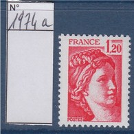 = Sabine De Gandon Neuf N°1974a Gomme Tropicale 1f20 Rouge - 1977-81 Sabine De Gandon