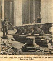 Das Blieb Uebrig Von Hitlers Pompösem Schreibtisch /Druck,entnommen Aus Zeitschrift / 1946 - Bücher, Zeitschriften, Comics