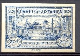Costa Rica - 1924 - Yt 135 - Jeux Olympiques Centroaméricains *  Charnière Non Dentelé - Costa Rica