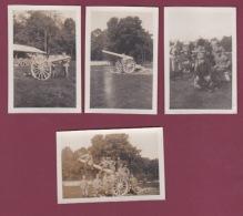 050518 - MILITARIA GUERRE 1914 18 - 4 Photos Canon Canonnier 1917 Yves Regelsperger - Guerre, Militaire