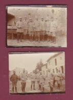050518 - MILITARIA GUERRE 1914 18 - 2 Photos Militaires En MEURTHE ET MOSELLE LIXIERES - BELLEAU - Guerra, Militares