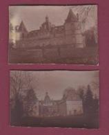 050518 - MILITARIA GUERRE 1914 18 - 2 Photos Châeau De Moustiers Militaire - Krieg, Militär