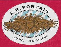Rare Petite Etiquette Ancienne E. R. PORTAIS Marca Registrada * Figure Allégorique Graveur Stern Allégorie Art Nouveau - Autres Collections