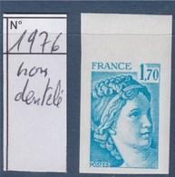 = Sabine De Gandon Neuf N°1976 Non Dentelé 1f70 Bleu Clair - 1977-81 Sabine (Gandon)