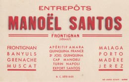 Buvard Entrepôts Manoêl Santos - Frontignan - Liqueur & Bière