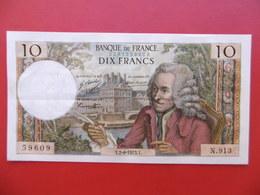 BILLET 10 FRANCS VOLTAIRE Y.2.8 1973.Y  SERIE N.913 - 1962-1997 ''Francs''