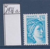 = Sabine De Gandon Neuf N°1976a Gomme Tropicale 1f70 Bleu Clair - 1977-81 Sabine De Gandon
