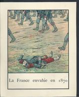 MILITARIA TYPE GRAVURE ILLUSTRÉE SUR PAPIER GUERRE 1870 LA FRANCE ENVAHIE EN 1970 : - Militaria