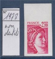 = Sabine De Gandon Neuf N°1978 Non Dentelé 2f10 Rose Carminé - 1977-81 Sabine (Gandon)