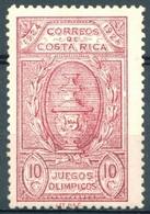Costa Rica - 1924 - Yt 134 - Jeux Olympiques Centroaméricains *  Charnière Dentelé - Costa Rica