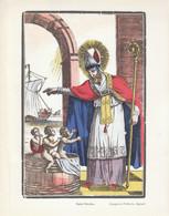 1950 - Iconographie - Saint-Nicolas - Imagerie Pellerin à Épinal - FRANCO DE PORT - Vieux Papiers