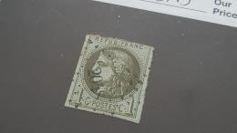 LOT 397045 TIMBRE DE FRANCE OBLITERE N°39B VALEUR 200 EUROS - 1870 Bordeaux Printing