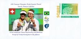 SPAIN, 2016 Summer Olympics, RIO, Tennis, Women's Doubles, SILVER MEDAL : Timea Bacsinszky/Martina Hingis (Switzerland) - Eté 2016: Rio De Janeiro