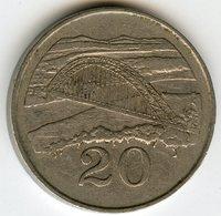 Zimbabwe 20 Cents 1987 KM 4 - Zimbabwe