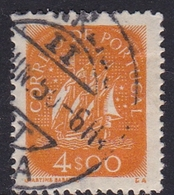 Portugal SG 953a 1943 Definitives 4e Orange, Used - 1910-... Republic