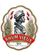 954/  ETIQUETTE DE   RHUM  VIEUX  FRAIOLI FRERES THIAIS  (SEINE) - Rhum