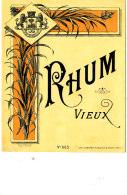 956 /  ETIQUETTE DE   RHUM  VIEUX - Rhum
