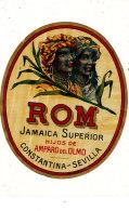 959 /  ETIQUETTE DE   RHUM  - ROM   JAMAIQUE SUPERIOR   HIJOS DE AMPARO DEL OLMO  CONSTANTINA SEVILLA - Rhum