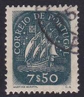 Portugal SG 954b 1943 Definitives 7e 50c Green, Used - 1910-... République