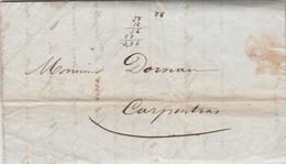 Lettre Entête Latune Papeteries De Blacons  Sans Marque Postale De CREST Drôme 16/9/1846 Pour Carpentras Vaucluse - Marcofilia (sobres)