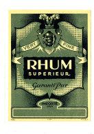 961 /  ETIQUETTE DE   RHUM  -  SUPERIEUR  VERY FINE - Rhum