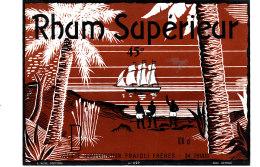 962 /  ETIQUETTE DE   RHUM  -  SUPERIEUR   FRAOLI FRERES THIAIS - Rhum