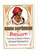 965 /  ETIQUETTE DE   RHUM  - SUPERIEUR  DU SALUT  ANTILLES FRANCAISES - Rhum