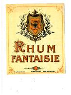 967 /  ETIQUETTE DE   RHUM  -   FANTAISIE - Rhum