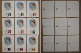 MONACO 1957 Carte 1er Jour X 9 GRACE KELLY Carte Maximum Card FDC - Maximum Cards