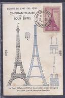 Carte Maximum Tour Eiffel 1939 - Maximum Cards