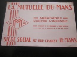BUVARD DE LA MUTUELLE DU MANS M.M  ASSURANCE CONTRE INCENDIE 3 RUE DE CHANZY LE MANS Pour Cahier école & Autres - Bank & Insurance
