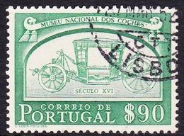 Portugal SG 1060 1952 National Coaches, 90c Green, Used - Gebruikt