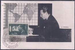 Carte Maximum Mermoz Exposition Philatelique Aerienne 1943 - 1940-49